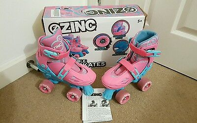 Zinc Adjustable Quad Skates - Pink.