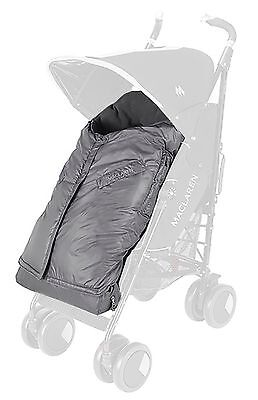 Maclaren Expandable Footmuff Charcoal Grey New in Pack