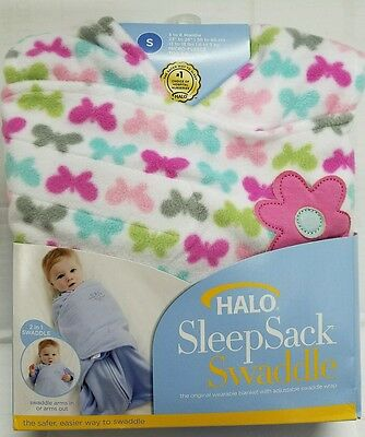 HALO Swaddle SleepSack Wearable Blanket BUTTERFLY Size SMALL 3 to 6 Months