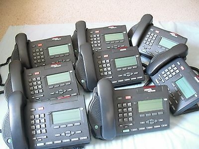 Lot of 8 Nortel Networks M3903 Charcoal Black Business Phones