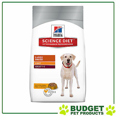 Hills Science Diet Dry Adult Light For Large Breed Dogs 12kg