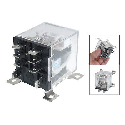JQX-12F 2Z DC 12V 30A DPDT General Purpose Power Relay 8 Pin F6