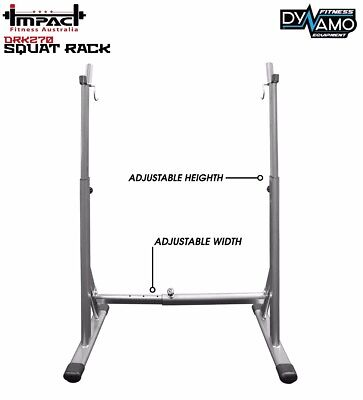 Squat Rack Adjustable Width and Height, Solid Frame for home gym fitness