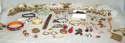 Lot of VTG wearable RESELLABLE JEWELRY necklaces earrings bracelets scarf clips