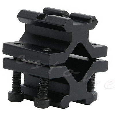 Tactical Double Barrel 20mm Picatinny Rail Weaver Mount for Rifle Bipod Laser