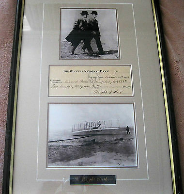 Wright Brothers Signed Winter Bank Check, Dec 20,1909, Diamond Chain Co. $539.71
