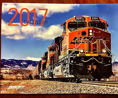 2017 BNSF Employee Calendar Burlington Northern Railway, Locomotive, Train �� ��