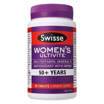 Swisse Women's Ultivite 50+ for Healthy Mental performance 90 Tablets