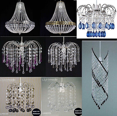 Acrylic Crystal Bead Ceiling Light/Lamp Shade Lampshade Chandelier Style Pendant