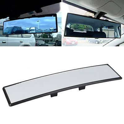 Universal Wide Anti-Glare Flat Clip On Car Windscreen Rear View Mirror OG