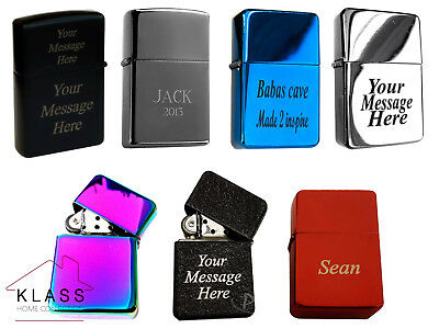 New Windproof Metal Lighter Free Customized Engraving Personalised Message Gift