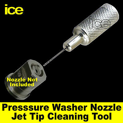 Pressure Washer Nozzle Jet Tip Cleaning Blockage Remover Cleaner Unblocking Tool