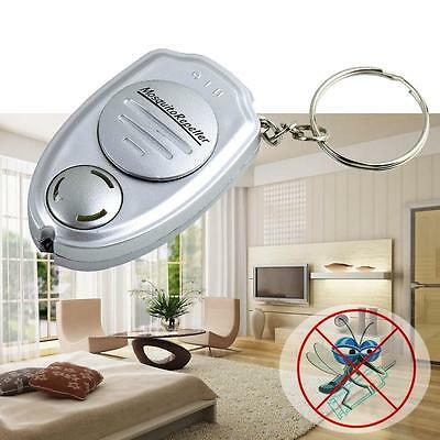 1x Ultrasonic Mosquito Repeller Pest Bug Repellent fly flying Insect Keychain GX