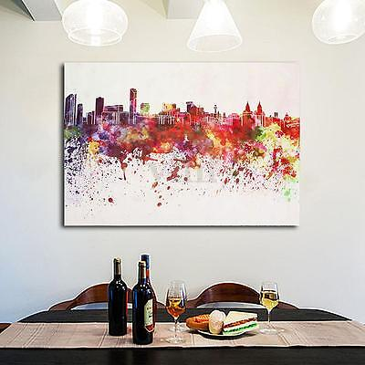 Modern City Abstract Canvas Print Art Oil Painting Home Wall Decor Unframed