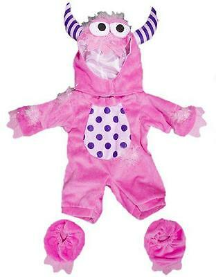 "PINK MONSTER HALLOWEEN OUTFIT FITS 15""-16"" (40cm) TEDDY BEARS AND BUILD A BEAR"