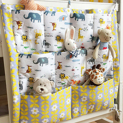Promotion! Baby Cot Bed Crib Nursery Hanging Storage Organizer Bag for baby toys