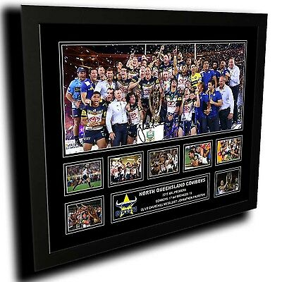North Queensland Cowboys 2 2015 Nrl Premiers Limited Edition Framed Memorabilia
