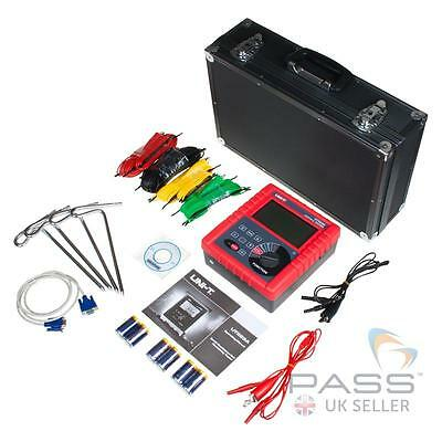 UNI-T UT523A Earth Resistance Soil Resistivity Tester + Accessories, Software UK
