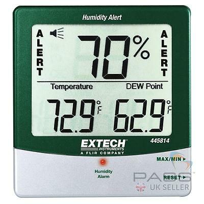 NEW Extech 445814 Thermometer, Humidity, Dewpoint and Temperature Alert / UK