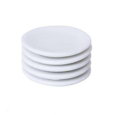 5 Doll House Miniature White Porcelain Dishware Tableware Dishes Salad Plate