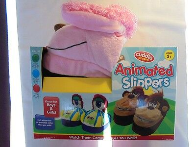 Kids Animated Slippers, Various Styles; Small, Medium, Large, Girls and Boys