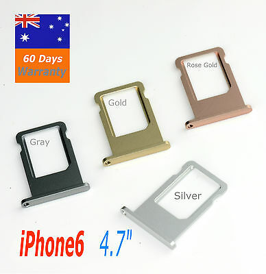 "iPhone6  4.7"" Sim Card Tray Holder Slot Replacement Silver Gray Gold Rose Gold"