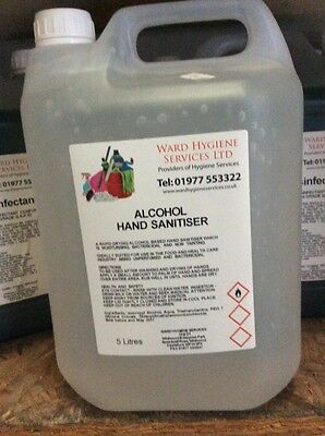 5L Hand Sanitising Sanitizing Liquid Alcohol Gel 5Ltr 5 Litre