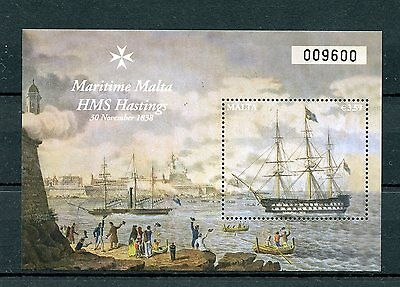 Malta 2016 MNH HMS Hastings Maritime Series IV 1v M/S Ships Boats Stamps