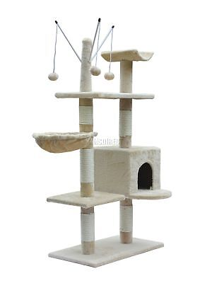 Kitten Cat Tree Scratching Post Activity Centre Bed Toys Scratcher 2288 Beige