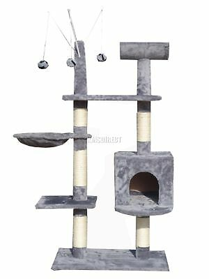 Kitten Cat Tree Scratching Post Activity Centre Bed Toys Scratcher 2288 Grey New