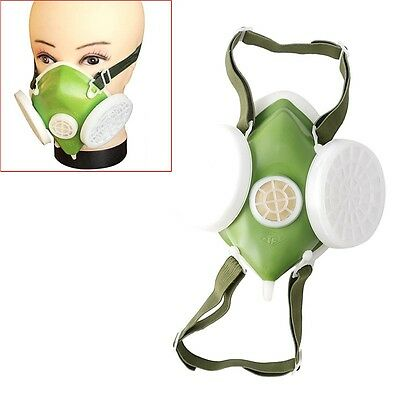 Dual Respirator Gas Mask Anti-Dust Twin Chemical Spray Paint Safety Headwear