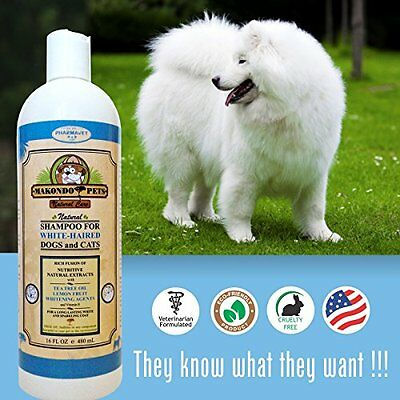 White Haired Dog And Cat Shampoo 16 Fl Oz Natural Rich Fusion Coat Tea Tree Oil