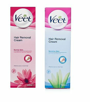 Veet Hair Removal Cream 100ml for Sensitive Skin & Normal Skin~~Please Choose~~