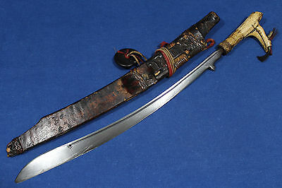 Antique mandau sword from Dayak people - Borneo Indonesia 19th early 20th