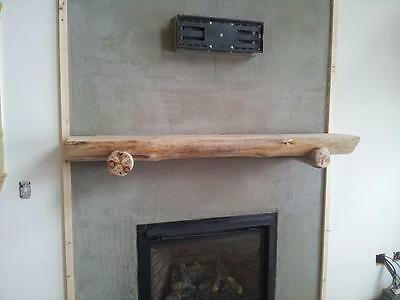 Half Log Mantle with or without Purlins! Choose your size. Rustic and Beautiful!