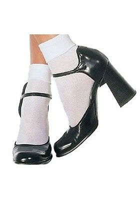 New BLACK Leg Avenue Anklet Ankle Cuff  Socks One Size