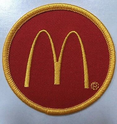 """McDonald's patch embroidered McDonald's patch 2.5"""" dia."""