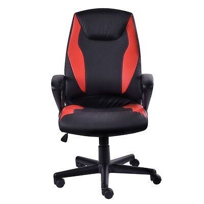 High-Back Racing Style Executive Head Support Office Gaming PU Leather Chair HOT