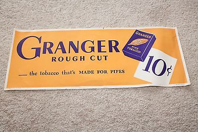 Vintage Granger Rough Cut Pipe Tobacco Paper Advertising Sign