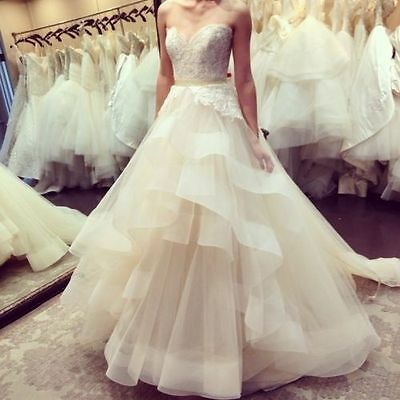 Gorgeous Sweetheart Wedding Dresses Ball Gown Lace Bridal Gowns 2016 Custom Made