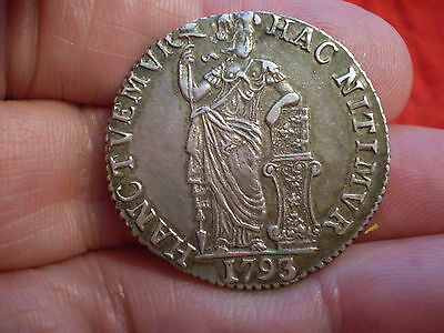Superb Top Grade 1793 Silver Dutch Guilder Gulden West Friesland Mint Coin Yummy