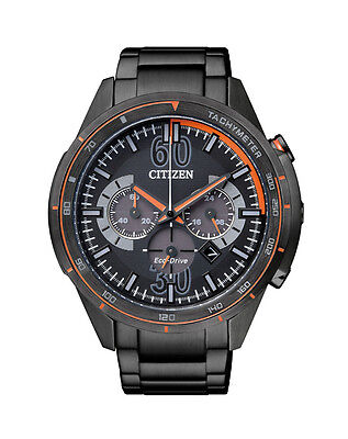 NEW Citizen Mens Stainless Steel Eco-Drive Chronograph Watch - CA4125-56E