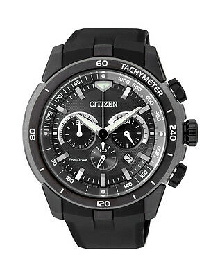 NEW Citizen Mens Stainless Steel Eco-Drive Chronograph Watch - CA4157-09E