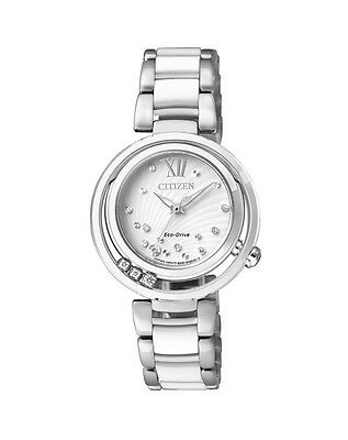 NEW Citizen Ladies Stainless Steel Eco-Drive Diamond Watch - EM0320-83A