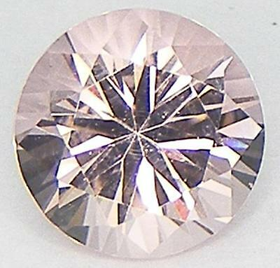 Excellent Cut Round 7 Mm. Lab Created Nanocrystal Simulated Morganite