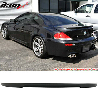 04-08 BMW E63 6 Series 2DR Coupe V Style Trunk Spoiler Unpainted - ABS