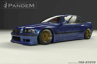 FRP Greddy Pandem Front Rear Over Fender Flare For 92-99 BMW E36 3Series & M3 2D
