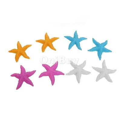 8pcs Résine Starfish Fish Tank Aquarium Mariage Ornements Décor 8cm