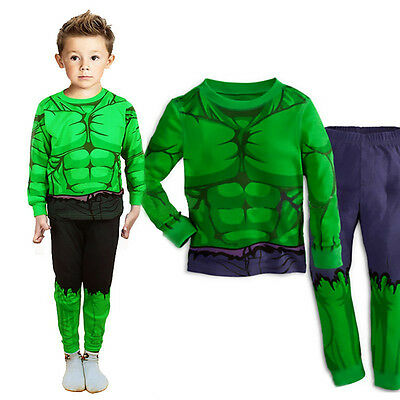 Toddler Kids Boys The Hulk Pajamas Set Homewear Sleepwear Nightwear Costume 1-7T