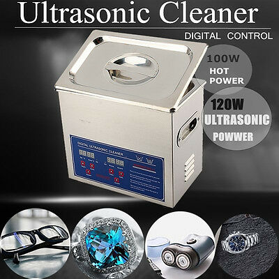 3L Mechanicial Industrial Ultrasonic Cleaner Ultra Sonic Wave Tank Basket Cover